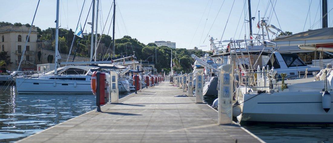berth a boat yacht services malta marina with boats and sailing yachts